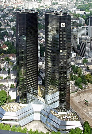 Deutsche Bank - Deutsche Bank Twin Towers, the Headquarters of Deutsche Bank in Frankfurt, Germany