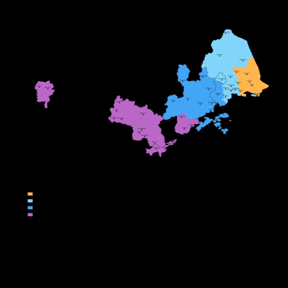 Dialect Map of Lower Yangtze Mandarin