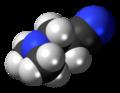 Dimethylaminopropionitrile 3D spacefill.png