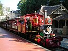 Train on the Disneyland Railroad