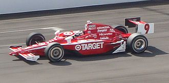 "2010 Indianapolis 500 - Scott Dixon qualifies during the ""shootout"" segment.  Dixon qualified for the sixth starting position."