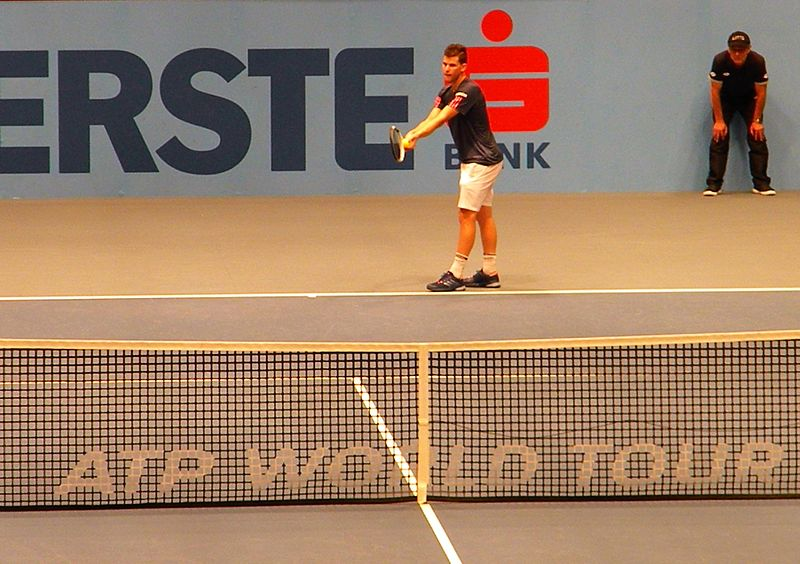File:Dominic Thiem (Austria) against Gerald Melzer (Austria), 2016 Erste Bank Open.jpg