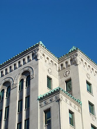 Dominion Square Building - A detail of the Italianate style