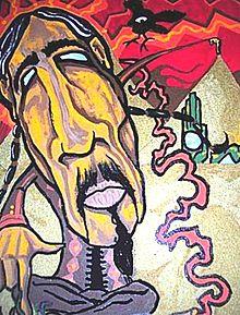 representação figurativa de Don Juan Matus, desenho de Jacob Wayne Bryner