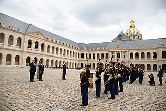 State visit - Donald Trump at Les Invalides during his state visit to France. Arrival ceremonies typically take place at Les Invalides, or the Elysee Palace.