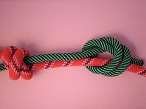 Double fisherman's knot - Image: Doppelter Spierenstich 3