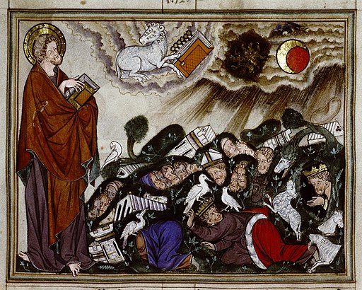 Douce Apocalypse - Bodleian Ms180 - p.018 Sixth seal - earthquake