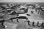 Douglas A-4L Skyhawks of RCVW-20 on USS John F. Kennedy (CVA-67), in August 1971 (K-90601).jpg