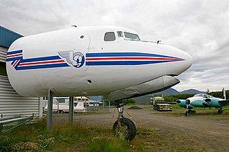Aviation Museum of Iceland - Douglas DC-6 nose section on display at Aviation Museum of Iceland, 2007
