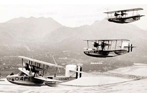 Naval Aircraft Factory PN - Douglas PD-1s of VP-4 over Hawaii, in 1930