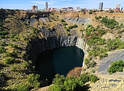 City centre seen over the Big Hole