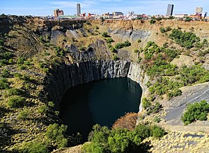 Kimberley, Northern Cape - City centre seen over the Big Hole