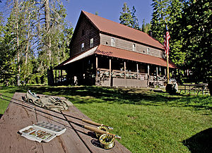 Drakesbad Guest Ranch - Image: Drakesbad Lodge (8639932467)