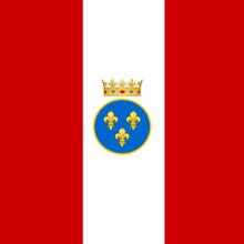 Drapeau du régiment de la Compagnie des Indes en 1756.png