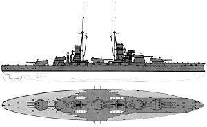 Conte di Cavour-class battleship - Original configuration