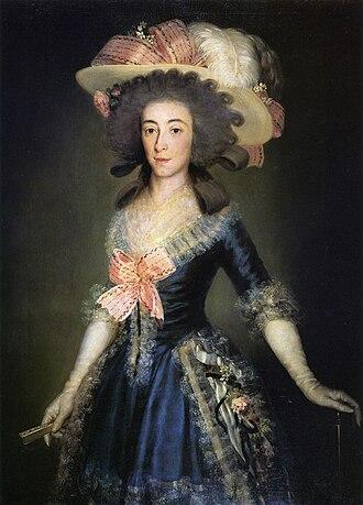 Pedro Téllez-Girón, 9th Duke of Osuna - Image: Duchess Countess of Benavente by Goya