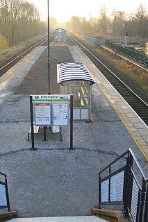 Duffield railway station Station in Derbyshire, England