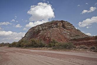 Duffy's Peak - Duffy's Peak viewed from the Salt Fork.