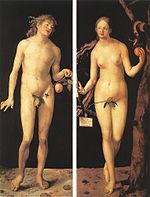 Adam and EveShowcasing the apple as a symbol of sin.Albrecht Dürer, 1507