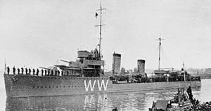 Dutch destroyer Witte de With at Den Helder c1935.jpg