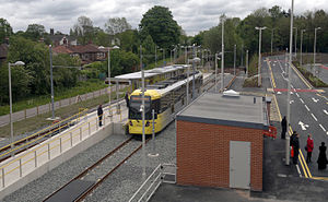East Didsbury tram stop - East Didsbury tram stop, on its opening day