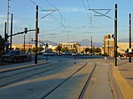 East along tracks from West Valley Central station, Aug 16.jpg