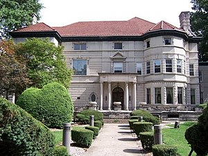 East Orange, New Jersey - A reminder of East Orange's former wealth. The Ambrose-Ward Mansion was built in 1898 for a book manufacturer, now the home of the African-American Fund of New Jersey
