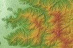 Echigo-Sanzan Relief Map, SRTM-1.jpg