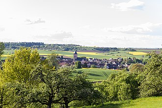 Wetteraukreis - Area view of Eckartshausen