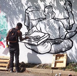 Edgewood (Washington, D.C.) - Image: Edgewood Wall artist