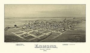 Edmond, Oklahoma - Edmond, Oklahoma Territory, 1891. Drawn by T.M. Fowler.