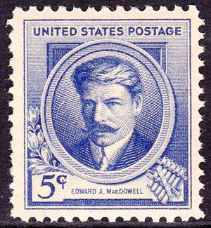Edward MacDowell - Edward A. MacDowell, US Postage, Issue of 1940