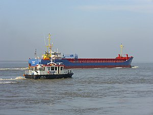 English: The general cargo ship Eems Solar and...