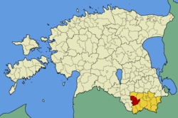 Antsla Parish within Võru County.