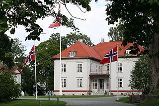 Eidsvollsbygningen building in Eidsvoll, Akershus, Norway