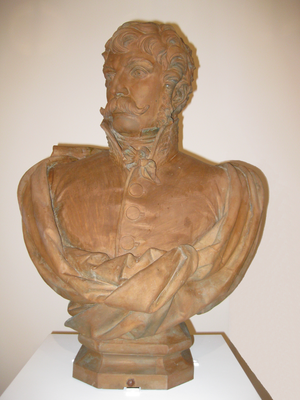Juan Martín Díez - Bronze bust of Juan Martín Díez in Alcalá de Henares.