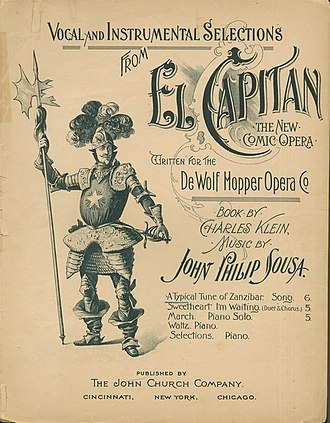 John Philip Sousa - Sheet music cover, 1896