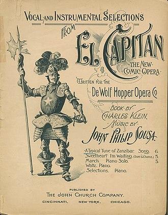 John Philip Sousa - Sheet music cover, 1896
