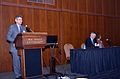 """Electronic Records Conference, November 3-4, 2011 at the McKimmon Center in Raleigh, NC. Probably """"Economic Realities in the Management of Public Records""""- George Bakolia, Senior Deputy State CIO; (6331759282).jpg"""
