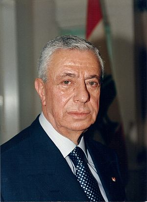 Elias Hrawi - Elias Hrawi's Presidential portrait, 1989