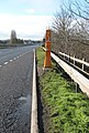 Emergency phone on the bypass at Bridstow Bridge - geograph.org.uk - 678290.jpg