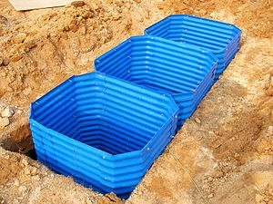 Emergency sanitation - Emergency pit lining kits, suitable for areas with high water table