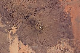 Emi Koussi Volcano, Chad From ISS.JPG