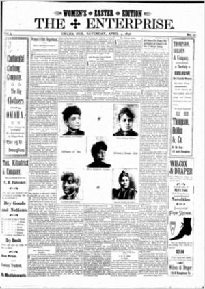 Media in Omaha, Nebraska - Cover of The Enterprise, April 4, 1896