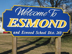 Welcome to Esmond signage