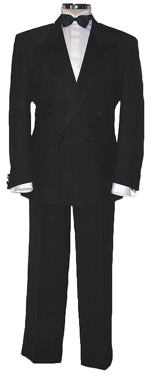 Tuxedo - A double-breasted dinner suit