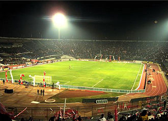 Chile national football team - Estadio Nacional at night.