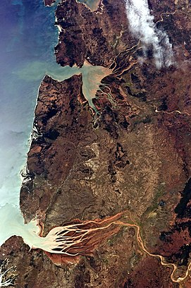 Geography of madagascar wikipedia this astronaut photograph highlights two estuaries along the north western coastline of madagascar publicscrutiny Image collections