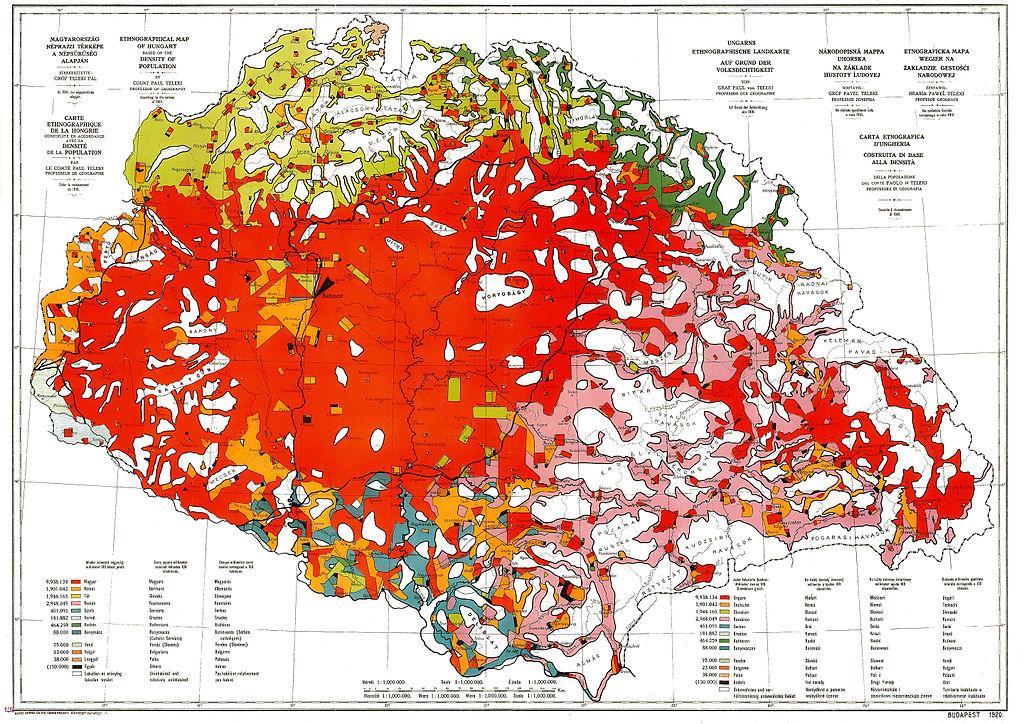vörös térkép Fájl:Ethnographic map of hungary 1910 by teleki carte rouge.