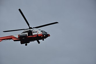 Government Flying Service - GFS Eurocopter AS-332L2 Super Puma with Flight Operations Manager looking for casualties
